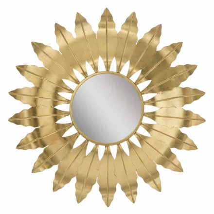 Pasqyra moderne e rrumbullakosur me mur hekuri - Galdi