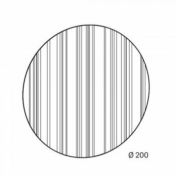 Pasqyra e murit të rrumbullakët Ø200 Made in Italy Design - Koriander