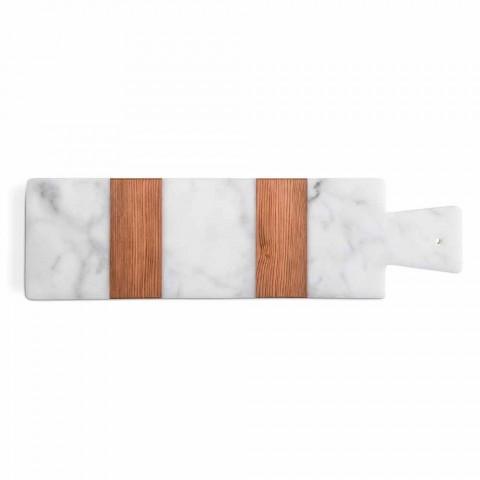 Bardhë Carrara Mermer dhe Dru Bërë Made në Itali Bordi Prerje Design - Evea