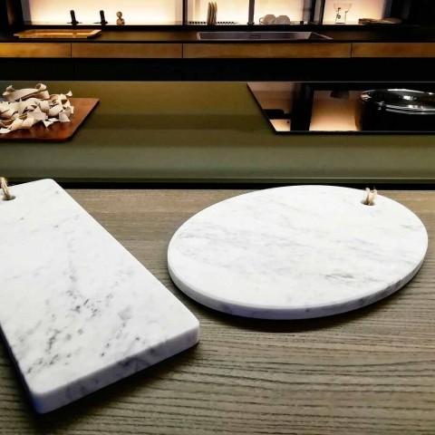 Dizajn i rrumbullakët Bordi i Prerjes së Mermerit të Bardhë Carrara Prodhuar në Itali - Masha