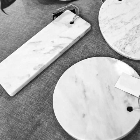 Dërrasë prerëse drejtkëndëshe në mermer të bardhë Carrara prodhuar në Itali - Masha