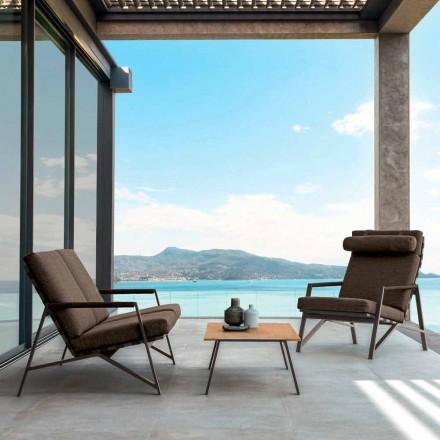 Salla e dhomës së ndenjes në natyrë të vendosur Vilë nga Talenti, dizajn i bërë në Itali