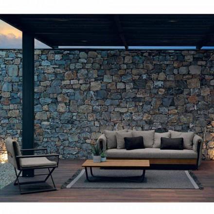Salla e dhomës së ndenjes në natyrë e vendosur Domino nga Talenti, dizajn italian