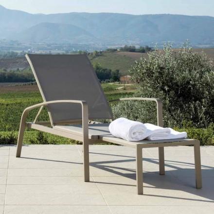 Lounger dielli në natyrë Zonja nga Talenti, model modern, i bërë në Itali