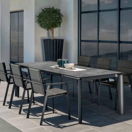 Tavolinë ngrënieje e shtrirë në natyrë Milo nga Talenti, dizajn modern