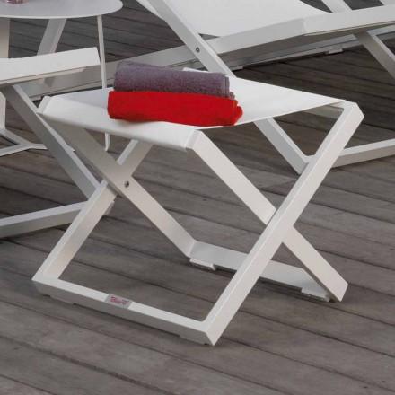 Pouf / stool në natyrë Prekje nga Talenti bërë në Itali, strukturë alumini