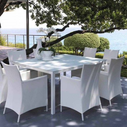 Tavolinë kopshti në natyrë Prekje nga Talenti 155x155 cm, e bërë në Itali