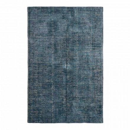 Qilim në dhomën e ndenjes në pambuk, fije mëndafshi dhe lesh të prodhuar në tezgjah manual - Melita