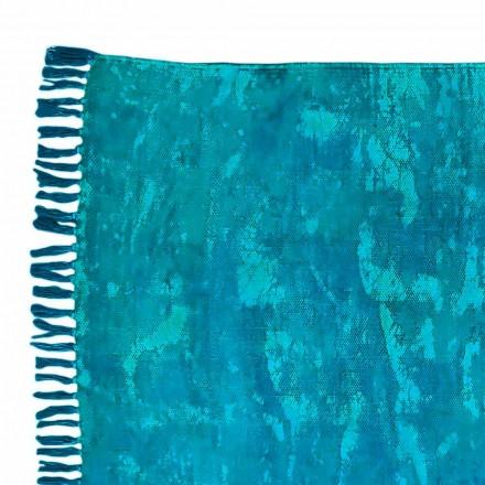 Qilim pëlhurë drejtkëndëshe me ngjyra etnike me tela - Fibraù