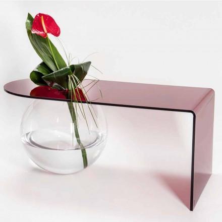 Tavolinë kafeje moderne e lakuar pleksiglase, e prodhuar në Itali, Bolly