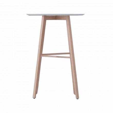 Tavolinë kafeje e Lartë ose e Ulët në Dru Lisi dhe Lartë të Bardhë - Langoustine
