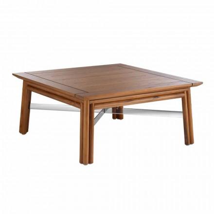 Tavolinë kafeje në shesh të ulët në dru natyral ose në dizajn të zi - Suzana
