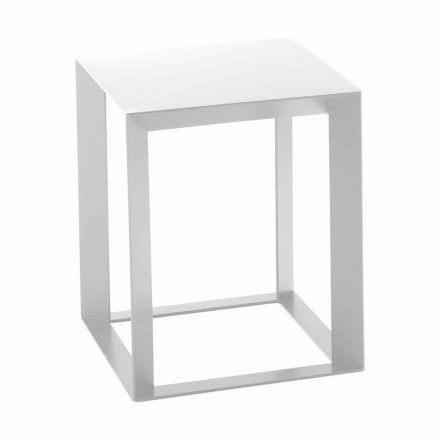 Tabela e kafesë metalike me dizajn katror 2 Përmasat - Josyane