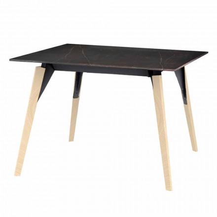 Tavolinë kafeje në efekt druri dhe mermeri, 3 ngjyra 2 madhësi - Faz Wood nga Vondom