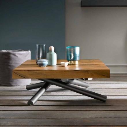 Transformimi i tryezës së kafesë të dizajnit në dru i bërë në Itali - Vincenzo