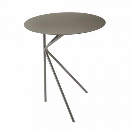 Tryezë e rrumbullakët kafeje metalike, dizajn në ngjyra të ndryshme dhe 2 madhësi - Olesya