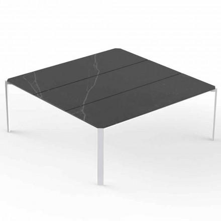 Tavolinë kafeje Square Garden, Top Effect Mermer - Tablet nga Vondom