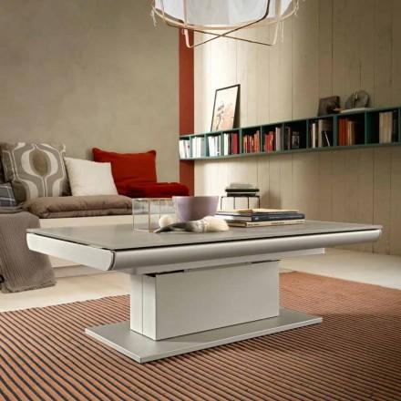 Transformimi i tryezës së kafesë në xham dhe çelik të prodhuar në Itali - Silvestro
