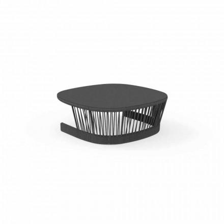 Tavolinë shkëmbi në natyrë nga Talenti, në kordon dhe alumin, dizajn nga Palomba
