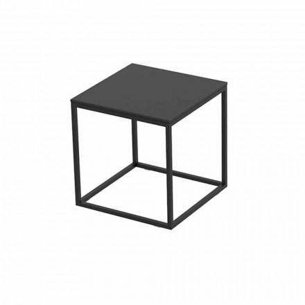 Tavolinë kafeje në natyrë në alumin dhe petëzuar katror të zi - Suave nga Vondom