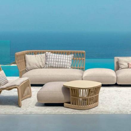 Tavolina e kopshtit Cliff nga Talenti, projektuar nga Palomba në kabllo dhe alumin