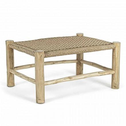 Tavolinë kafeje për kopsht në degët e dru tik me majë në fibra të endura - Tecno