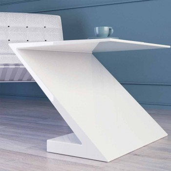 Tavolina e bardhë e stilave moderne e modelimit Zeta e bërë në Itali