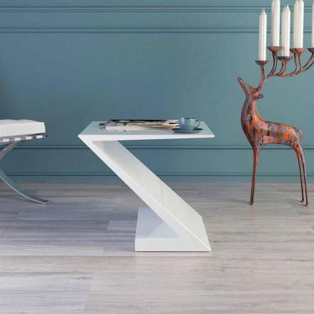 Bërë në Itali tryezë e bardhë kafeje, dizajn modern, Zeta