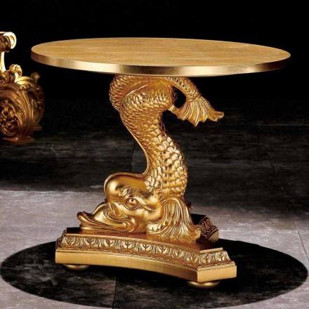 Tavolinë anësore e dhomës së ndenjes të ngurtë të punuar me gdhendje klasike të dizajnit klasik Ciro