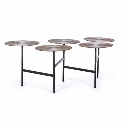 Tavolinë kafeje Homemotion me 5 maja alumini të rrumbullakëta - Pollino