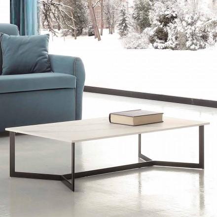 Tavolinë kafeje me efekt të lartë mermeri të bardhë Hpl prodhuar në Itali - Indio