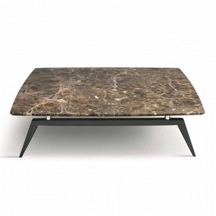 Tavolinë kafeje me majë mermeri dhe baza druri të prodhuara në Itali - Ngritja