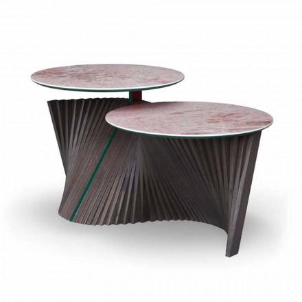 Tavolinë luksoze kafeje me 2 maja të rrumbullakëta në Gres Prodhuar në Itali - Stokholm
