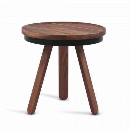 Dizajnoni tryezë kafeje me majë të rrumbullakët dhe këmbë të forta druri - Salerno