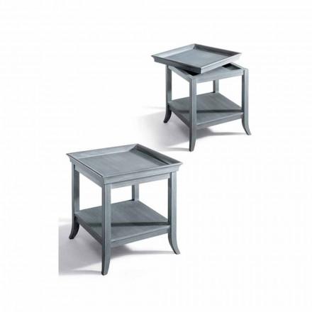 Tavolina kafeje e dhomës së ndenjes klasike Marcus, dru me llak gri 60x60 cm