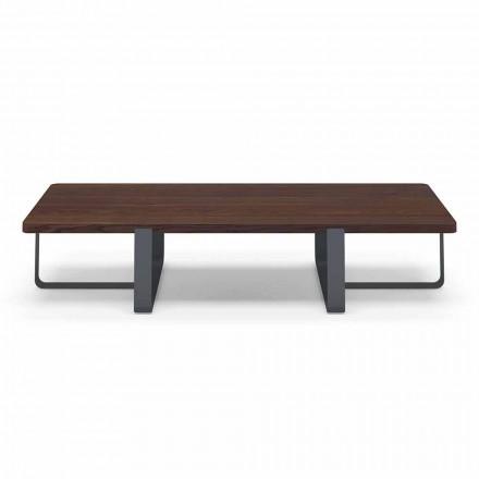 Tavolinë luksoze kafeje në ngjyrosje metali dhe druri me ngjyra - Anacleto