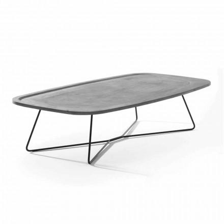 Tavolinë kafeje në çimento me strukturë metalike prodhuar në Itali - Evolve