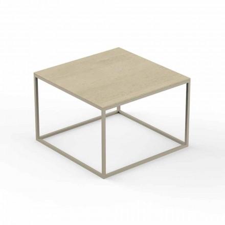 Projektoni tryezë kafeje për kopsht, krye me efekt mermeri katror - Suave nga Vondom