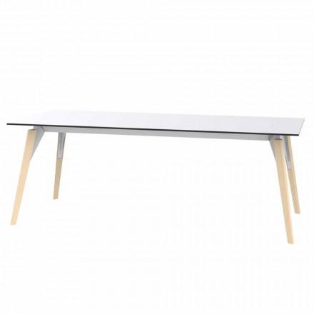 Tavolinë kafeje në Petëzuar me Bardhë ose të Zezë në 2 Madhësi - Faz Wood nga Vondom
