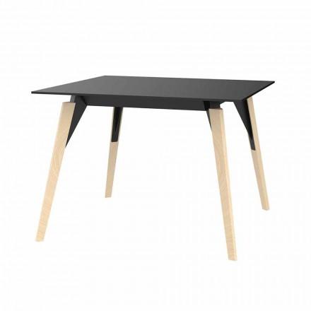 Tavolinë kafeje në dru dhe ngjyra të ndryshme Hpl 2 Madhësi - Faz Wood nga Vondom