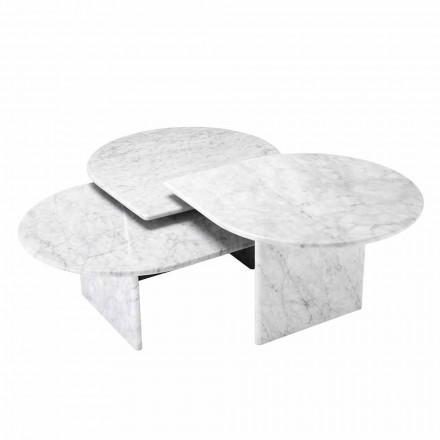 Tavolina e kafesë në formatin e Mermerit të Bardhë Carrara prej 3 Copash - Marsala