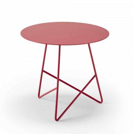 Tavolinë kafeje në metal me ngjyra dhe 3 dimensione, prodhuar në Itali - Magali