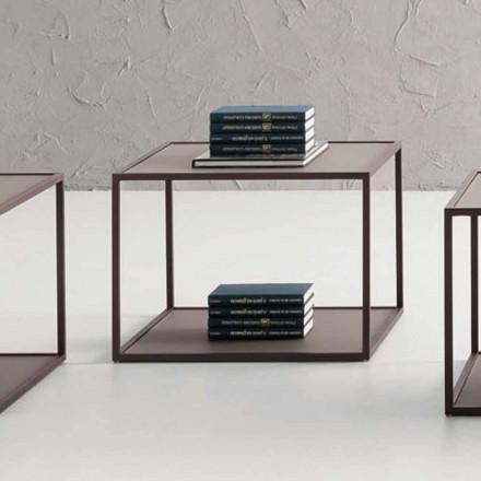 Tavolinë kafeje metalike me majë kristali të prodhuar në Itali - Fermio