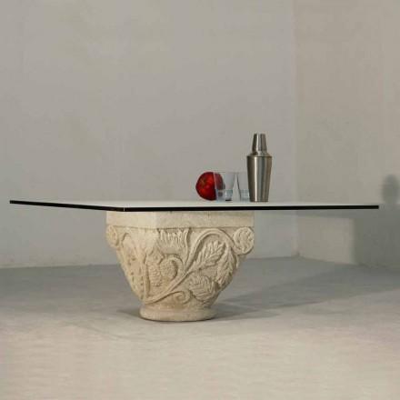 Tavolinë kafeje klasike e bërë nga kristali dhe guri natyror Vicenza Mytros