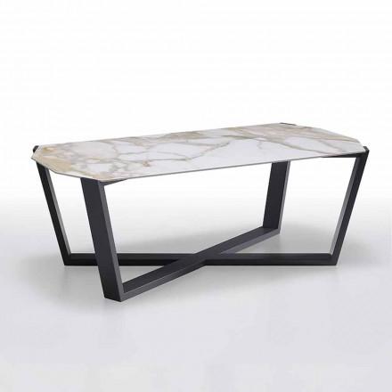 Tavolinë kafeje në prodhim gresi dhe dru, me cilësi të lartë prodhuar në Itali - Titanik