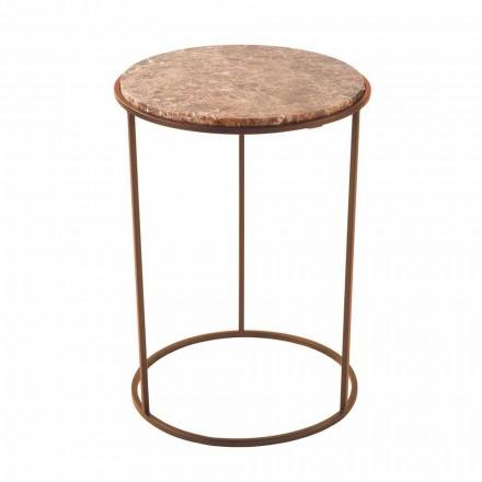 Tavolinë kafeje e rrumbullakët moderne në mermer metalik dhe me cilësi të lartë - Raphael