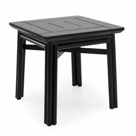 Tavolinë kafeje në natyrë në dru natyral ose të zi, 2 madhësi - Suzana