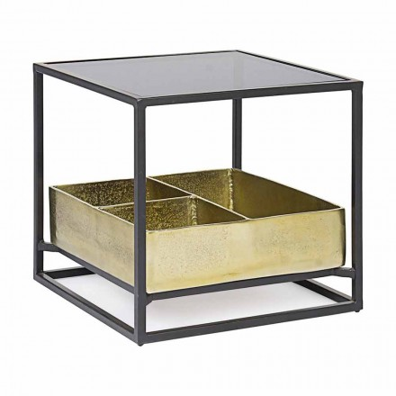 Tavolinë kafeje katrore Homemotion me majë xhami - Sigismondo