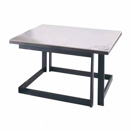 Tavolinë kafeje katrore në Gres me Bazë Metalike prodhuar në Itali - Albert