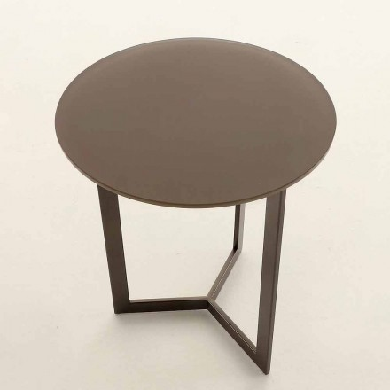 Tavolinë kafeje e rrumbullakët me majë kristali të prodhuar në Itali - Indio